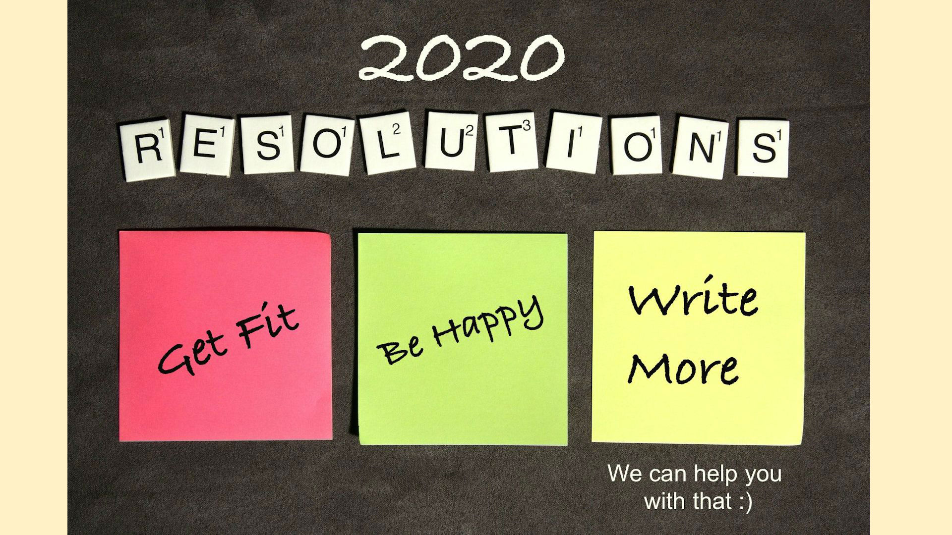 Start writing in 2020